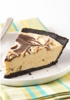 Peanut Butter & Fudge Swirl Pie Recipe –With this delicious dessert, one taste really is worth a thousand words.