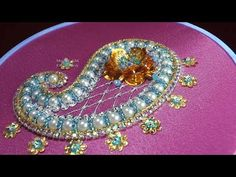 Samples and demonstration of the art of tambour beading as done in French Haute Couture Embroidery at Lesage in Paris. Hardanger Embroidery, Folk Embroidery, Simple Embroidery, Learn Embroidery, Beaded Embroidery, Floral Embroidery, Embroidery Patterns, Tambour Beading, Tatting Jewelry