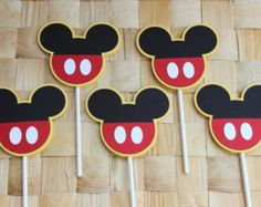 Rosette Minnie Mouse Cupcake Topper 12 by SandysPaintinPlace