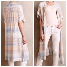 HP Ombré Maxi Cardigan by Knitted and Knotted Brand new, never worn, tags attached. Purchased and as much as I LOVE it, the style doesn't work on me.  My loss, your gain! Tie front, lightweight weave, pastel colors. Absolutely gorgeous! Price is FIRM. Anthropologie Sweaters Cardigans
