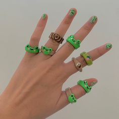 Fimo Ring, Polymer Clay Ring, Clay Art Projects, Clay Crafts, Diy Clay Rings, Aesthetic Rings, Cute Clay, Chunky Rings, Cute Rings