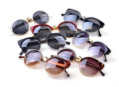 New 2014 Women Cat Eye Vintage Sunglasses Top Fashion Woman Retro Round Sun  Glasses Vintage Glasses d2f900568d