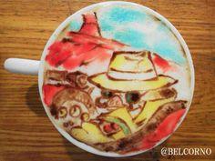 PORCO ROSSO Latte Art