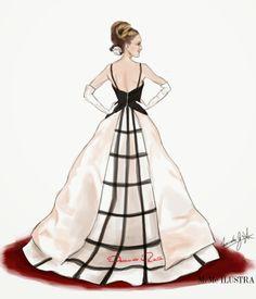 Dibujando señoritas de piernas largas: Ante la duda, Oscar de la renta #Met2014 #SaraJessicaParker #OscardelaRenta #MetBall