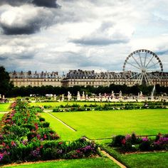 Right outside of the Louvre is a beautiful garden.  It has stunning outdoor sculptures and landscaping as well as great places for people watching.