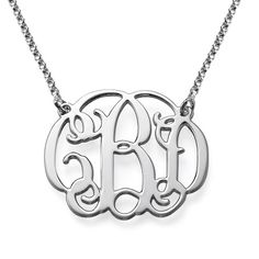 Celebrity Monogram Necklace in Sterling Silver | MyNameNecklace I would Love one of these!