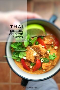 Love Thai food? Then you will adore this creamy chicken panang curry recipe...