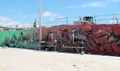 Skount, Cerezo and Laguna New mural in Barcelona — Urbanite Barcelona Spain, Street Artists, Urban Art, Illusions, Fair Grounds, Scene, World, Travel, Don Quixote