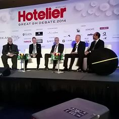 Our COO, David Thomson, on stage at the #HotelierMiddleEast #gmdebate14 on 2nd September 2014 in Dubai.