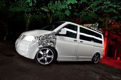 T5 transporter vw white decals