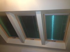 Triple fakro installation including blinds