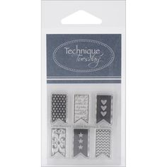Technique Tuesday Clear Stamps - Little Banners