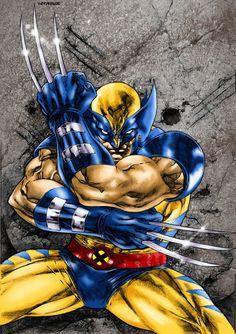 Marvel Wolverine, Marvel Vs, Heroes Dc Comics, Marvel Comics Art, Marvel Movies, Superman, Batman, Comic Art, Comic Books