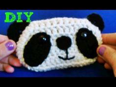 Aprende a Tejer !! - Monedero Crochet Osito Panda!! Panda Crochet Coin purse - YouTube