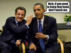 President Barack Obama with-French President Nicolas Sarkozy