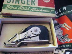 SALE Vintage Singer Blind Stitch Attachment Low Shank 221 222k 66 99 Need but for Slant Stitch