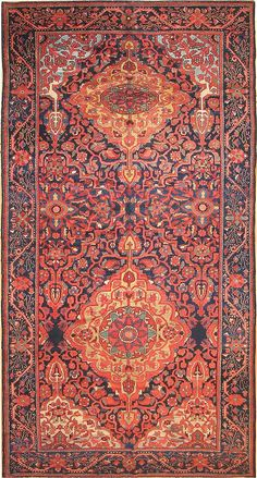 Lot: 64: Antique Bakhtiari Persian Rug 2244, Lot Number: 0064, Starting Bid: $3,000, Auctioneer: Nazmiyal Auction, Auction: Fine & Decorative Antique Carpets & Rugs, Date: October 1st, 2009 PDT