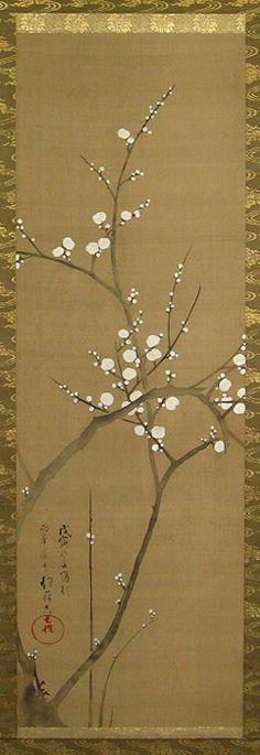 Sakai Hoitsu (1761-1828)  White Plum Blossom