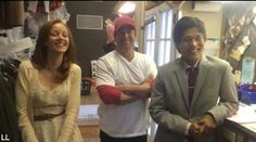 Christian Kane introduces his fellow cast members in his new show TNT The Librarians Lindy Booth and John Kim to his Kaniacs- 5-12-2014-Made by Ladee Leverage