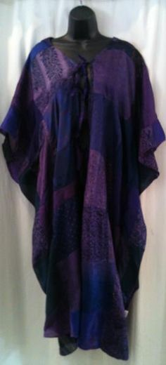 Swirl Patterned Kaftan - Purple - £25 - Ethnic Warehouse | Make up ...