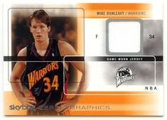 Mike Dunleavy # J-MD - 2004-05 SkyBox Autographics Basketball Jerseygraphics NBA Jersey