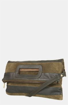 Topshop Stripe Suede & Leather Convertible Clutch available at #Nordstrom
