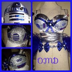 R2D2 rave bra/Halloween costume by OriannaMdesigns on Etsy