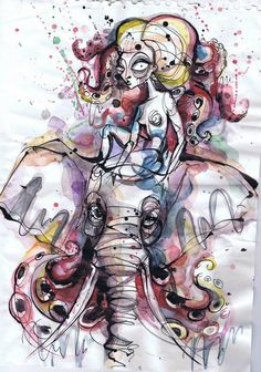 Tattoo design by Petra Hlaváčková, via Behance