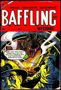 Comic Book Cover For Baffling Mysteries #21