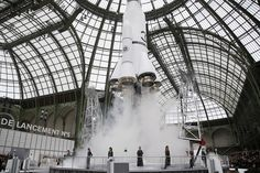We have lift-off: Spectators saw the branded rocket take off as models paraded the latest ...