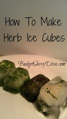 I love making these ice cubes because it is a money saver. Gluten - Free. Save herbs to use later