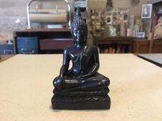 Zwart boeddha beeldje decoratief erg mooi