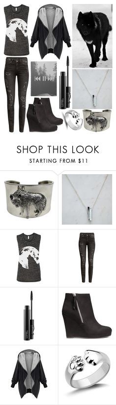 """""""Wolf"""" by musicmelody1 ❤ liked on Polyvore featuring Carol Felley, Wolf & Moon, H&M and MAC Cosmetics"""