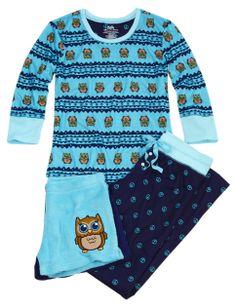 Owl 3 Piece Pajama Set | Girls Sets Pajamas & Robes | Shop Justice