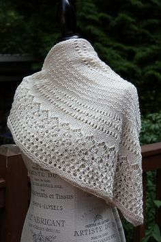 "UrbanStitches' Ivory Tower, ""Steel and Lace"" - Dinner in the Eiffel Tower Shawl Pattern $5.00"