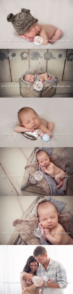 I love the bow tie! #NewbornPhotographyInspiration