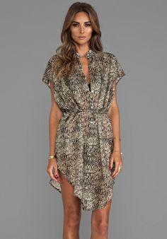 750b45fe850de vitamin A Nico Voile Shirt Dress in Python Resort Wear