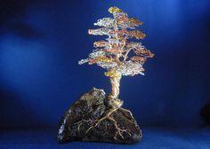Bonsai Tree Sculpture multicolored wire Ruby by TwistedGypsyArt