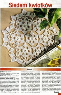 "Photo from album ""Robotki Reczne extra on Yandex. Japanese Crochet Patterns, Crochet Diagram, Views Album, Doilies, Animal Print Rug, Holiday Decor, Yandex Disk, Crochet Doilies, Towels"