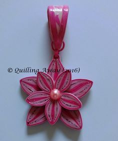 Quilled Floral Pendant - by: Quilling Away