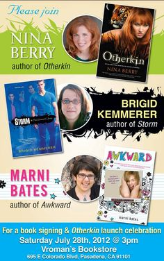 Poster for my book launch and co-signing event w/fellow fabulous authors Brigid Kemmerer and Marni Bates. Woo hoo!