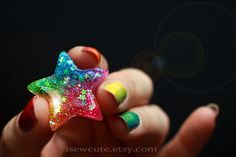 Colorful Rainbow Star Ring ...Catch a Falling Star by isewcute