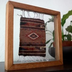 Mini tapete enmarcado para decorar