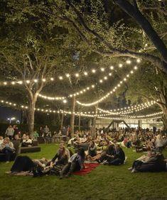 Outdoor movie/wine night. <3