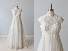 70s Wedding Dress / Boho Wedding Dress / by TheVintageMistress
