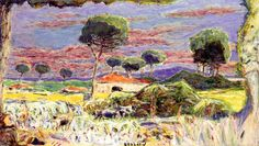 Landscape of Southern France / Pierre Bonnard (1939)
