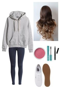 """""""25?"""" by nourhazem ❤ liked on Polyvore featuring H&M, Vans, Bare Escentuals and Bobbi Brown Cosmetics"""