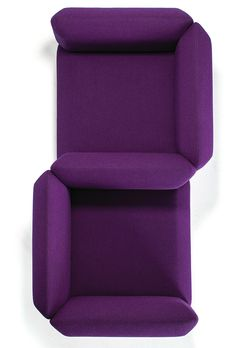 Upholstered 2 seater fabric #sofa Segment Collection by prostoria Ltd | design Numen / For Use