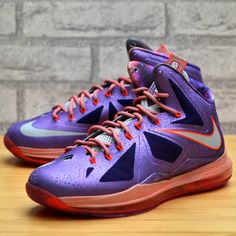 competitive price 82f3b 7e670 Nike Lebron X All Star Area 72 Extraterrestrial Purple 583108 500