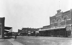 Downtown Osawatomie, Kansas in the early 1900's.